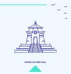 Chiang kai shek hall skyline vector