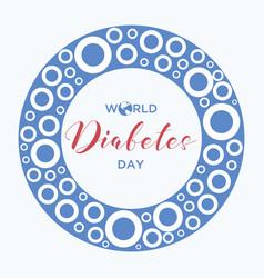 circle world diabetes day vector image