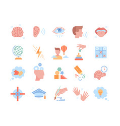 Collection colorful icons vector