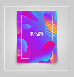 colorful fluid shapes composition colorful vector image