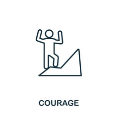 Courage icon outline style thin line creative vector