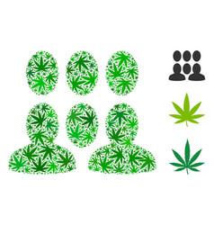 Crowd mosaic of marijuana vector