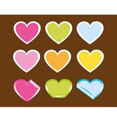 Cute hearts vector