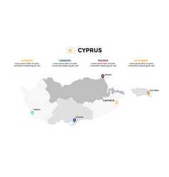 cyprus map infographic template slide vector image