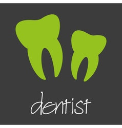 dentist tooth design banner and background eps10 vector image