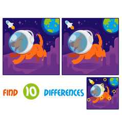 Dof astronaut find 10 differences vector