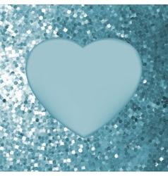 Elegant mosaic glowing heart vector