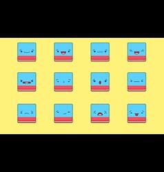 Eraser emoji vector image