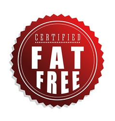 Fat free design vector image