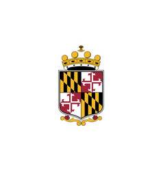 Flag anne arundel county maryland usa vector