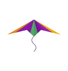 Flying colorful kite vector image