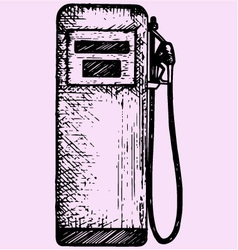 gasoline pump petrol gas station vector image