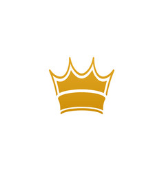 golden crown template vector image