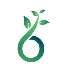 Green sprout logo graphic element vector