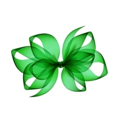 Green transparent bow top view close up isolated vector