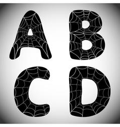 Halloween alphabet vector image