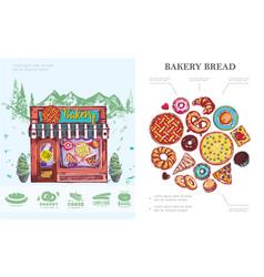 Hand drawn baking concept vector