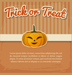 happy halloween greeting poster vector image