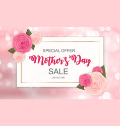 Happy mother s day cute sale background with vector