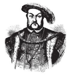 henry viii king of england vintage vector image