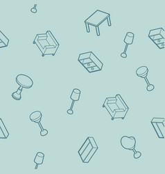 interior outline isometric pattern vector image