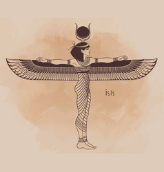 Isis goddess life and magic in egyptian vector