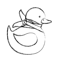 Isolated toy duck damaged design vector