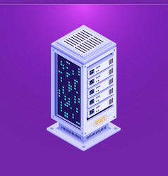isometric data base tower vector image