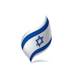 israel flag vector image