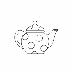 Kettle icon outline style vector