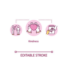Kindness concept icon sincerity and generosity vector