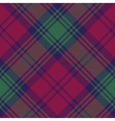 Lindsay tartan fabric texture diagonal pattern vector image