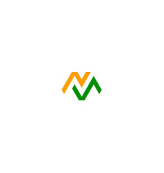 m initial business logo vector image