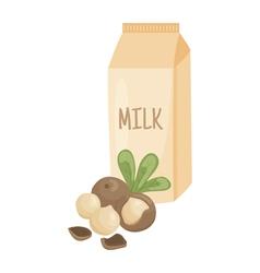 macadamia milk vector image