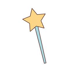 magical fairy wand imagination fantasy vector image