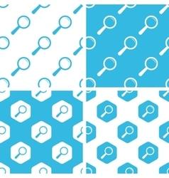 Magnifier patterns set vector