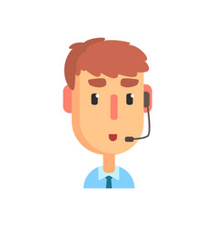 male call center agent online customer support vector image