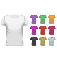 Mens short t-shirt set vector