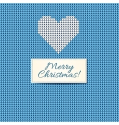 Merry Christmas Scandinavian style knitted card vector image