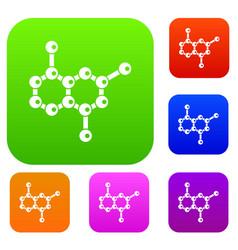 molecule set collection vector image