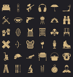 Outfit icons set simple style vector