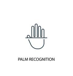 palm recognition concept line icon simple element vector image
