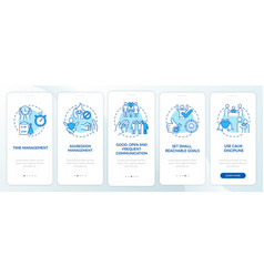 Parenting children with adhd onboarding mobile vector