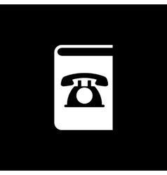 Phonebook icon design Telephone book vector image