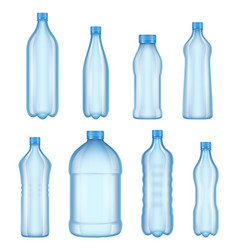 plastic bottles for water realistic vector image