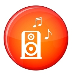 Portable music speacker icon flat style vector image