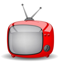 red cute TV vector image