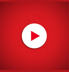 Red play button vector