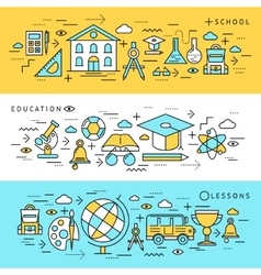 School Education Banners Set vector