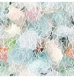 Seamless pattern with mosaic abstract geometric vector image